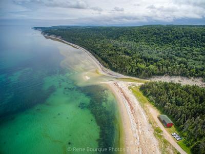 Drone, baie de Patate et chalets