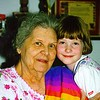 Great Grandmother Lessie Stultz and Meaghan Carpenter 6-24-98