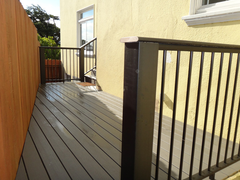 I built this deck in collaboration with a general contractor.