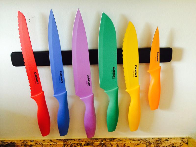 One knife rack option.