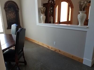 Divider Wall (dining room side)
