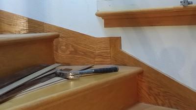 """Existing skirtboard """"inside corner"""" detail"""