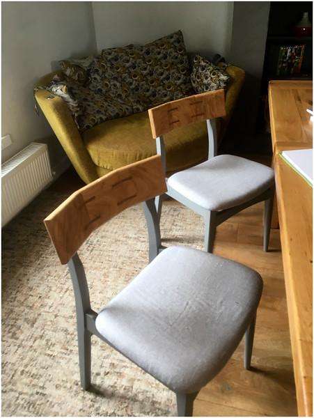 Bespoke mid century dining chairs