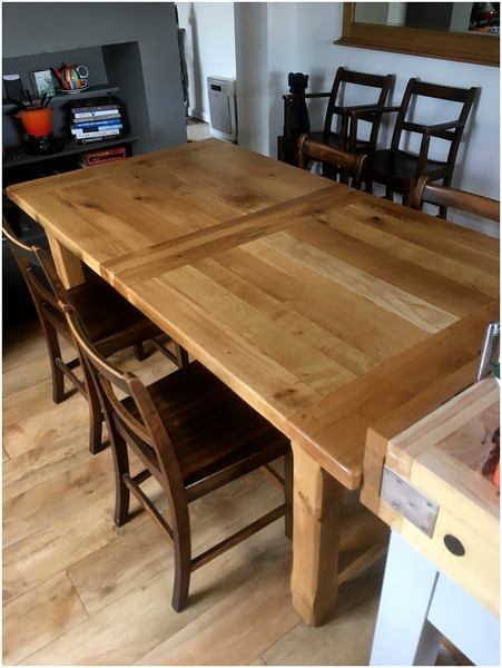 French Farmhouse Dining table - finished