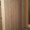 Custom accent wall in bathroom