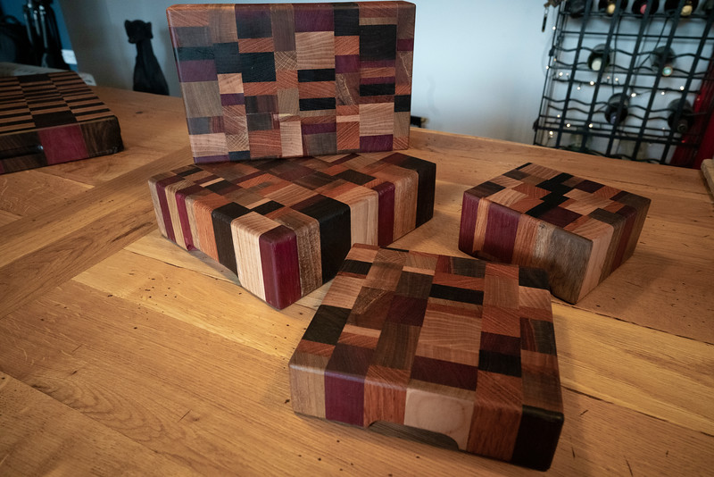 Exotic end grain boards