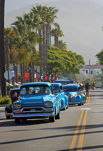 Linden Avenue as the vehicles begin to arrive at the 2012 Rods and Roses event.