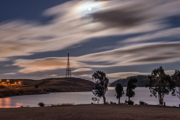 Super Moonlight and Fog