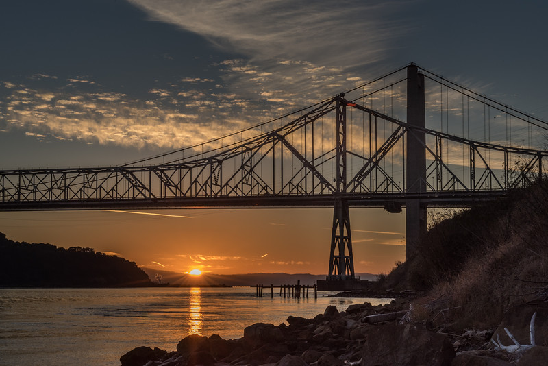 Carquinez Sunset Under The Bridge