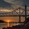 Carquinez Sunset Under The Bridge