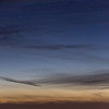 Crescent & Comet Over Vallejo<br /> Comet PANSTARRS over Vallejo California and San Pablo Bay.  The comet is visible above the dark cloud that angles down and to the right above the bottom 1/3rd of the shot....