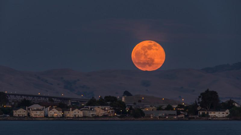 Moonrise Over Benicia