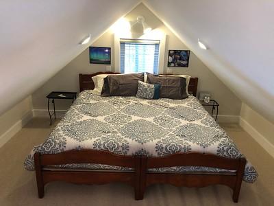 King Bed set up in loft