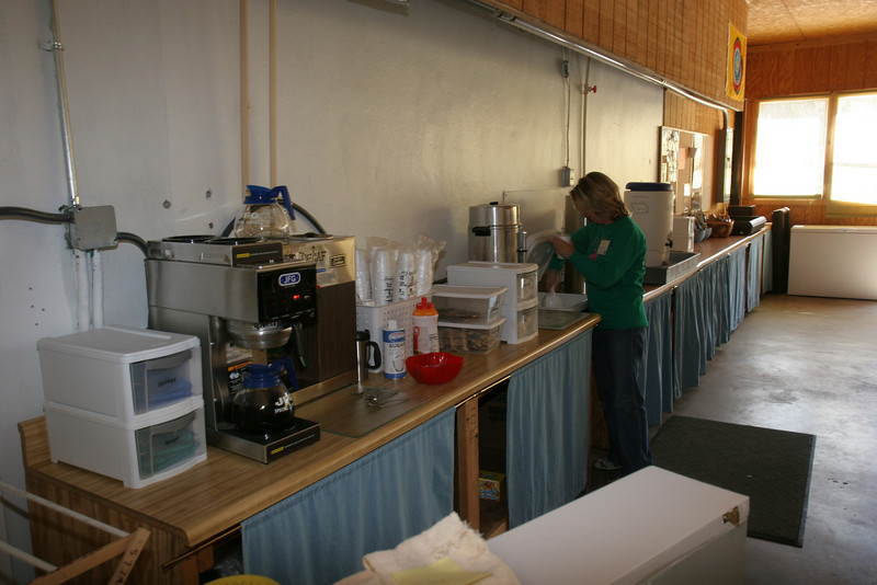 Drink area of dining hall