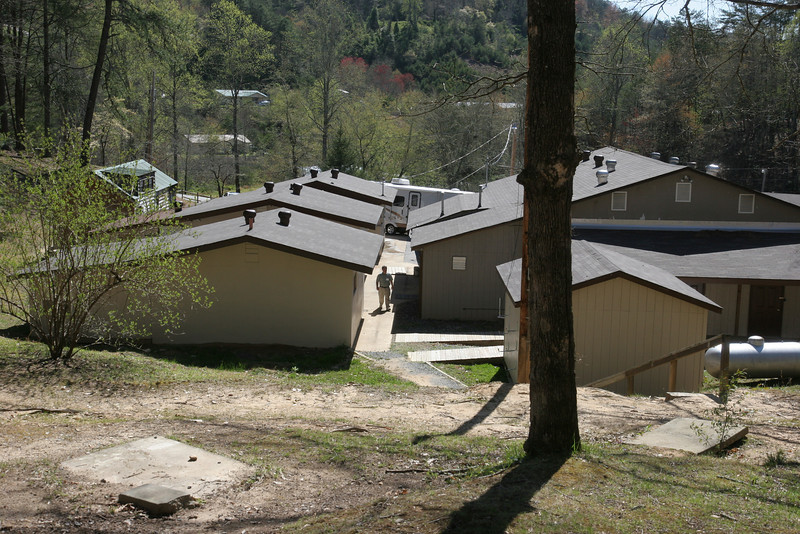 Back of dining hall and breezeway