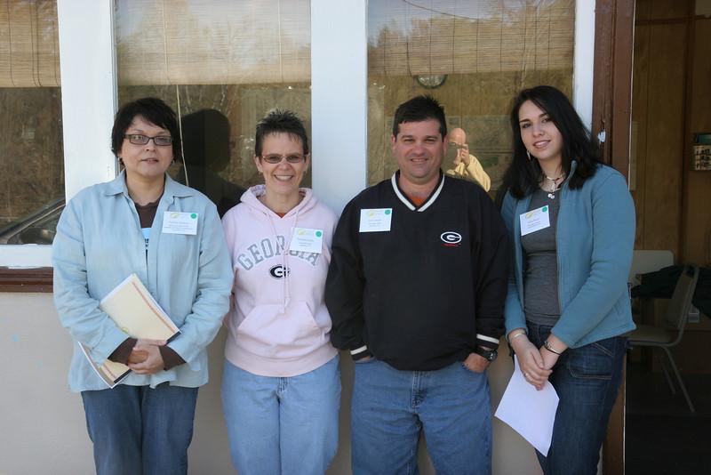L to R:  Tammy Jackson, Frances and Gene Gojba, Julie