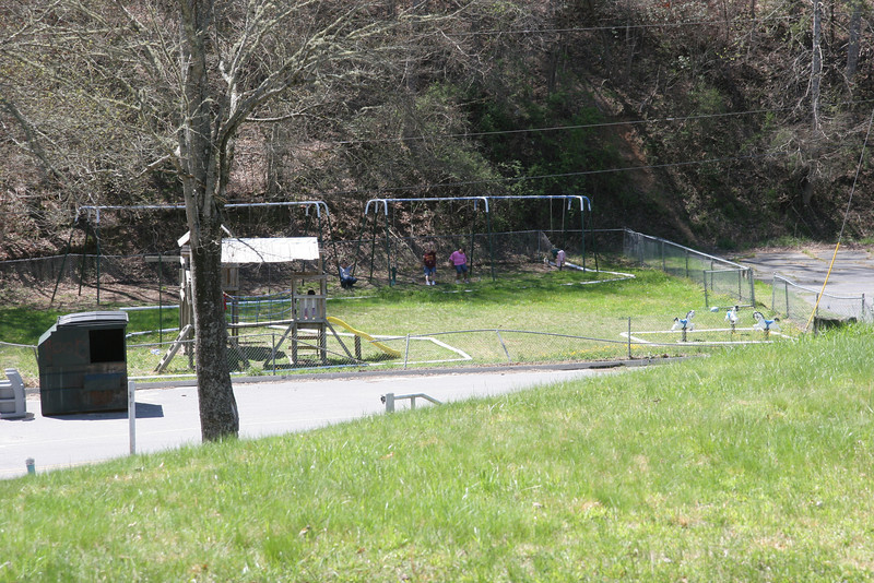 Playground from front entrance.