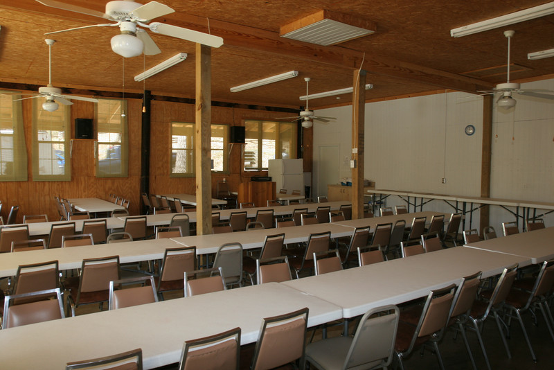 Inside dining hall after coming in door on right