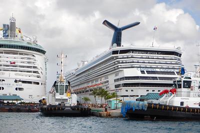 Cruise ships, Nassau, New Providence, Bahamas