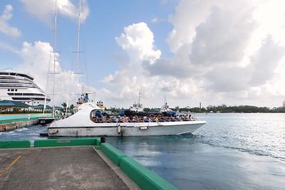 Ferry to Balmoral Island, Nassau, New Providence, Bahamas