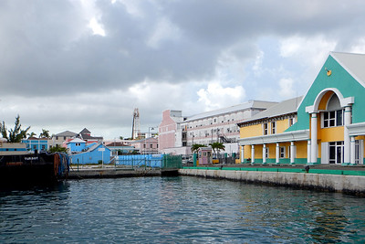 Departing Nassau on ferry to Balmoral Island