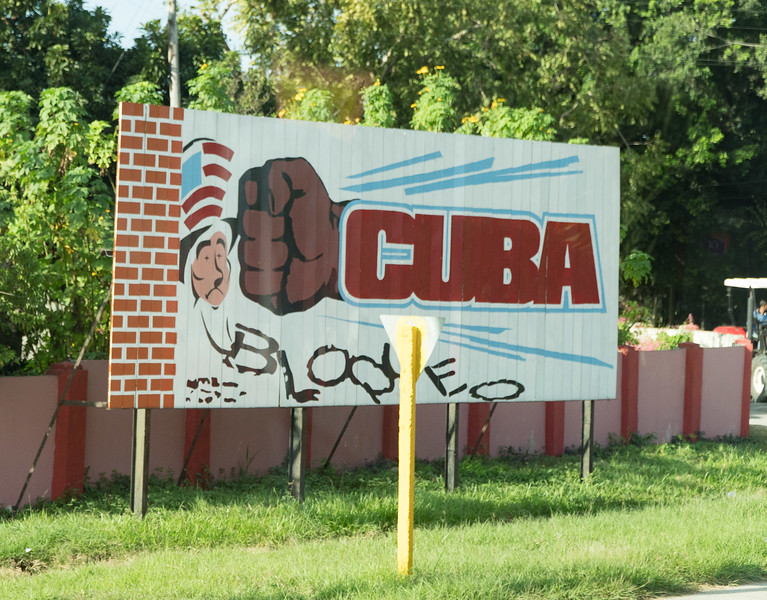 Anti- US propaganda near Cienfuegos Cuba