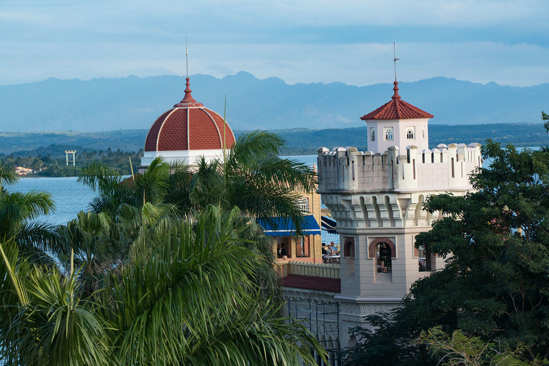 Palacio de valle as seen from the Hotel Jagua in Cienfuegos