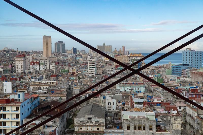 Havana skyline from the Hotel Sevilla