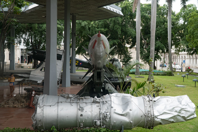 Downed US U2 engine and Soviet missile from the Museum of the Revolution in Havana