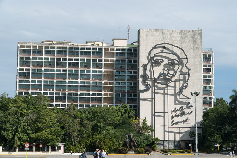 Ministry with image of Che, Revolution Square, Havana