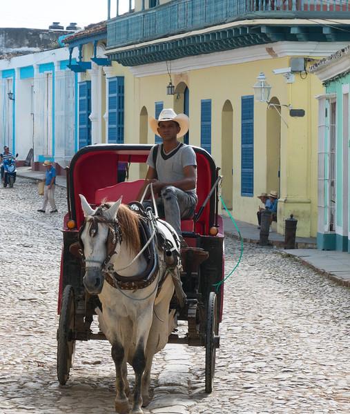 Horse drawn carriage in Trinidad de Cuba