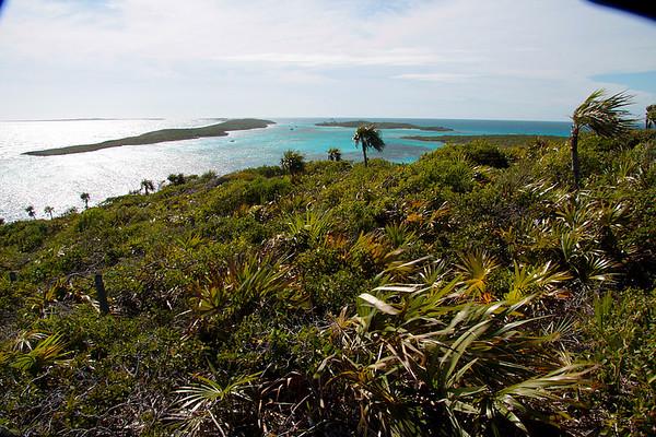 Overlooking the ocean in the Exumas