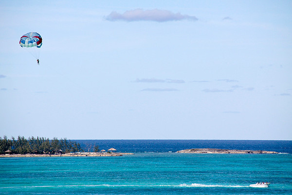 Para-sailing at Cable Beach, Nassua, Bahama