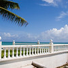 Sunny deck overlooking the ocean in New Providence Island