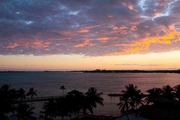 Sunrise at Cable Beach, Bahama