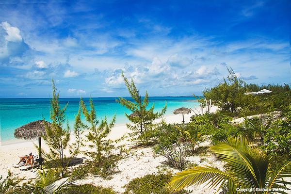 Beach at Sammy T's, Cat Island, Bahamas