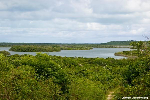 Landscape view of Great Lake  on Cat Island, Bahama