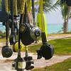 Diving equipment at Greenwood Resort, Cat Island, Bahama
