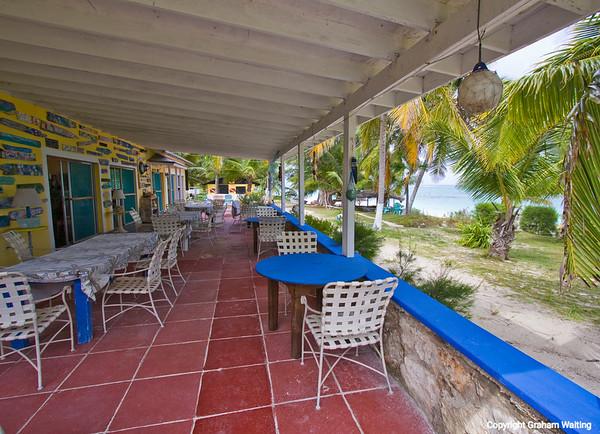 Greenwood Resort, patio, Cat Island, Bahama
