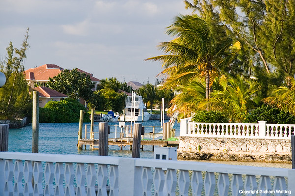 Boat on canal in Grand Bahama Grand Bahama