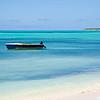 Beach scene on Cat Island, Bahamas