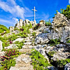 Mount Alvernia monastery, Cat Island, Bahama, looking towards the Cross