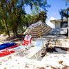 Beach umbrellas on Cat Island,Bahama