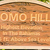 Sign at Como Hil, Cat Island,l showing elevation of the highest point in the Bahamas