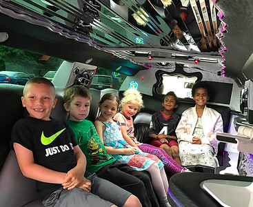 photo by Lisa Yanick Litwiller  Six of the 250 students at Carrie Knause Early Learning Center achieved perfect attendance this year; they were rewarded with a limo ride and a pizza lunch.