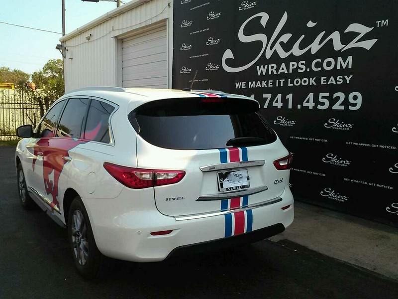Wonderful SMU Mustang Wraps For Sewell Infiniti And Sewell Lexus, Dallas, TX