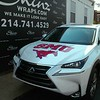 SMU Mustang wraps for Sewell Infiniti and Sewell Lexus, Dallas, TX