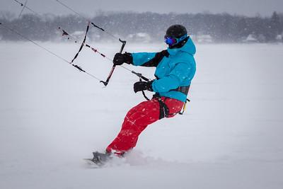 Winter Kiteboarding