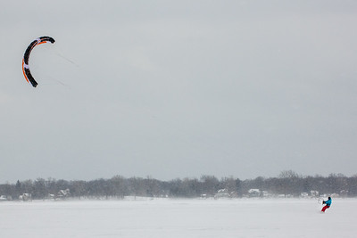 Winter Kiteboarding