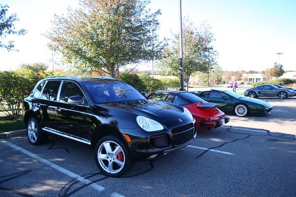 Cars & Coffee - Fall 2015 Porsche drive